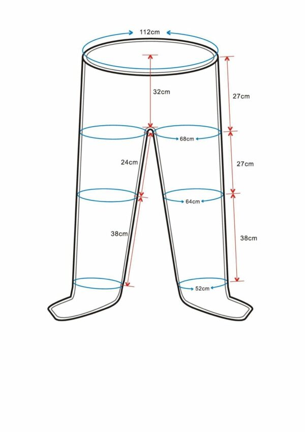 Recovery Boots – Model Portable with Pants (Full-length pants w/ 6 chambers)